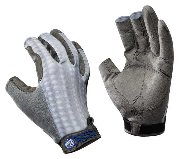 Buff fighting work gloves pro series gray scale for Fish handling gloves