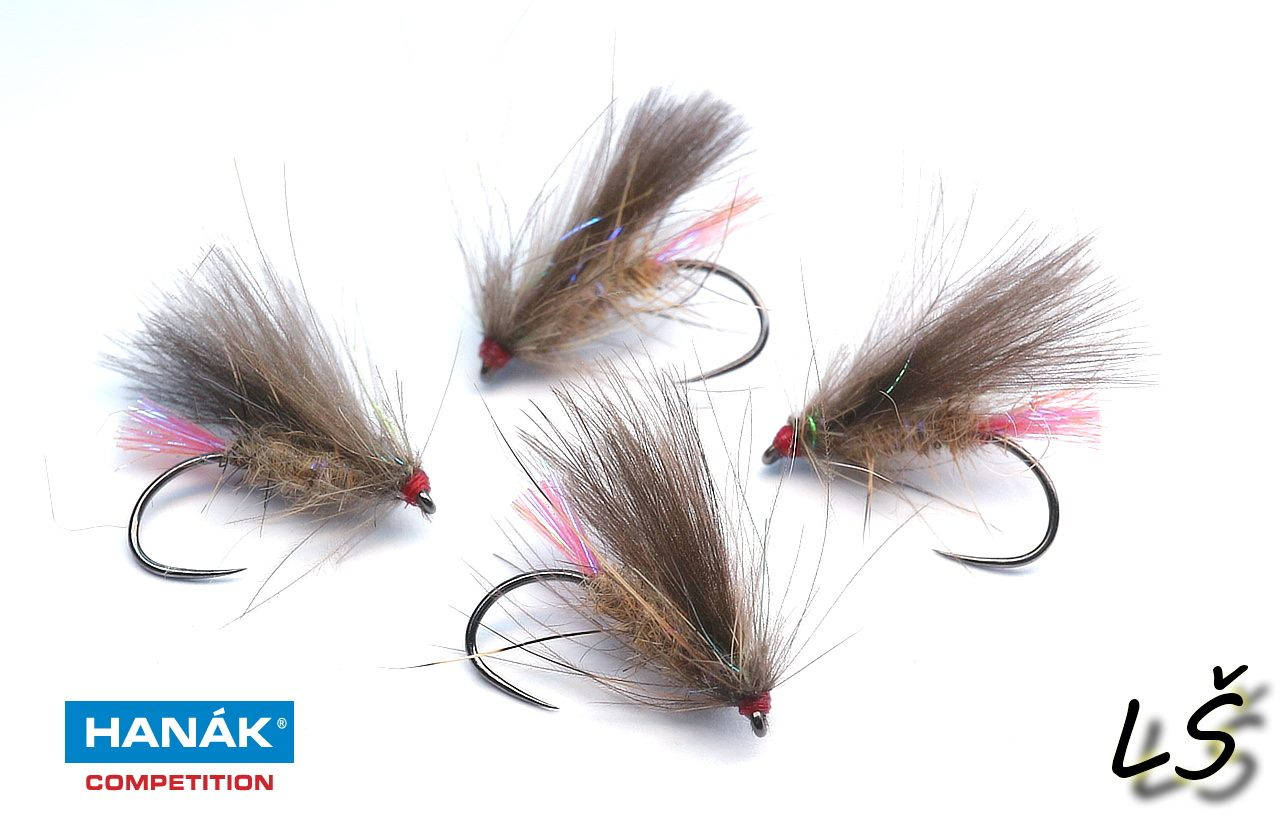 Caddis made on dry hook H 130 BL