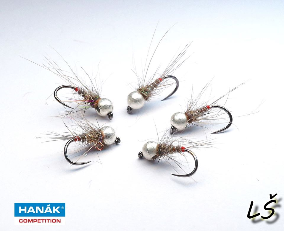 Tungsten bead nymphs made on dry hook H 130 BL