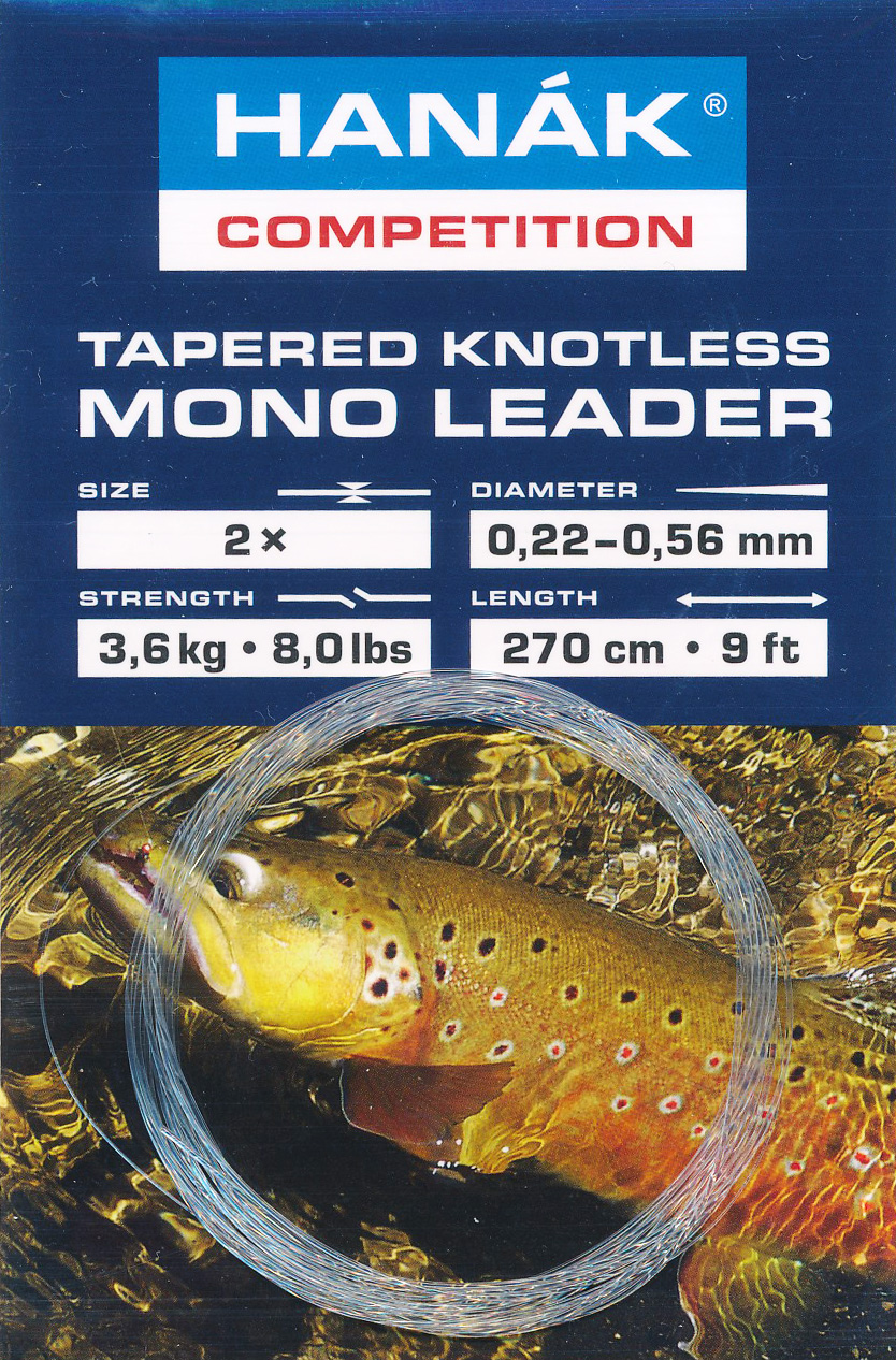 Tapered Knotless Mono Leader Transparent