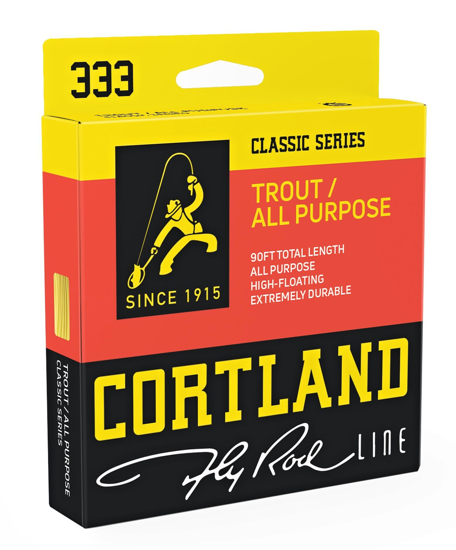 Fly Line Floating Cortland 333 TROUT Classic All Purpose  - Package