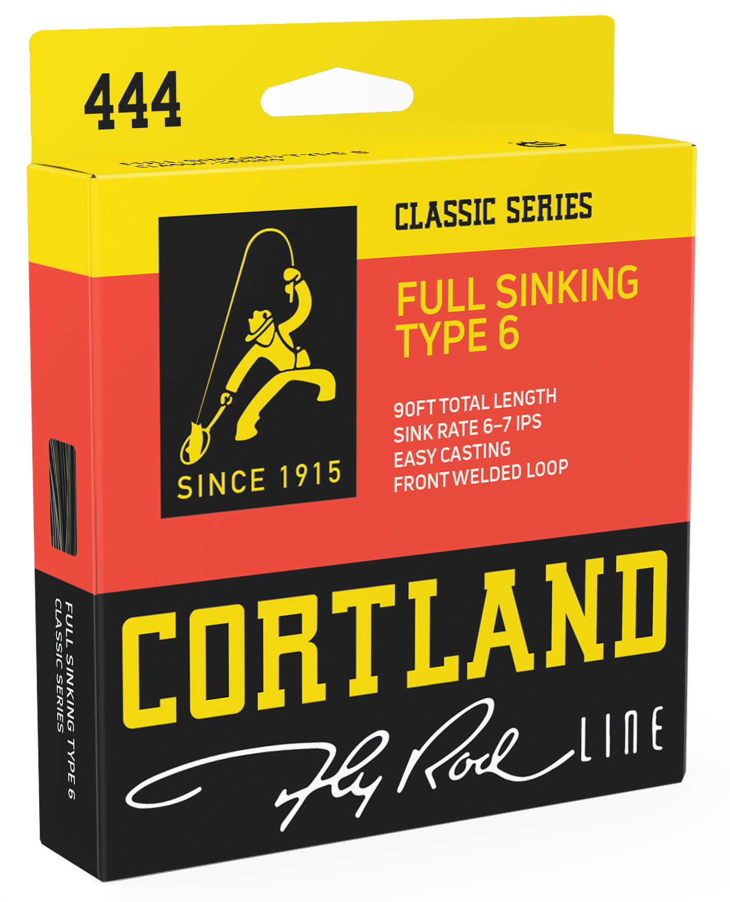 Fly Line Sinking Cortland 444 FULL SINKING TYPE 6 Classic - Box