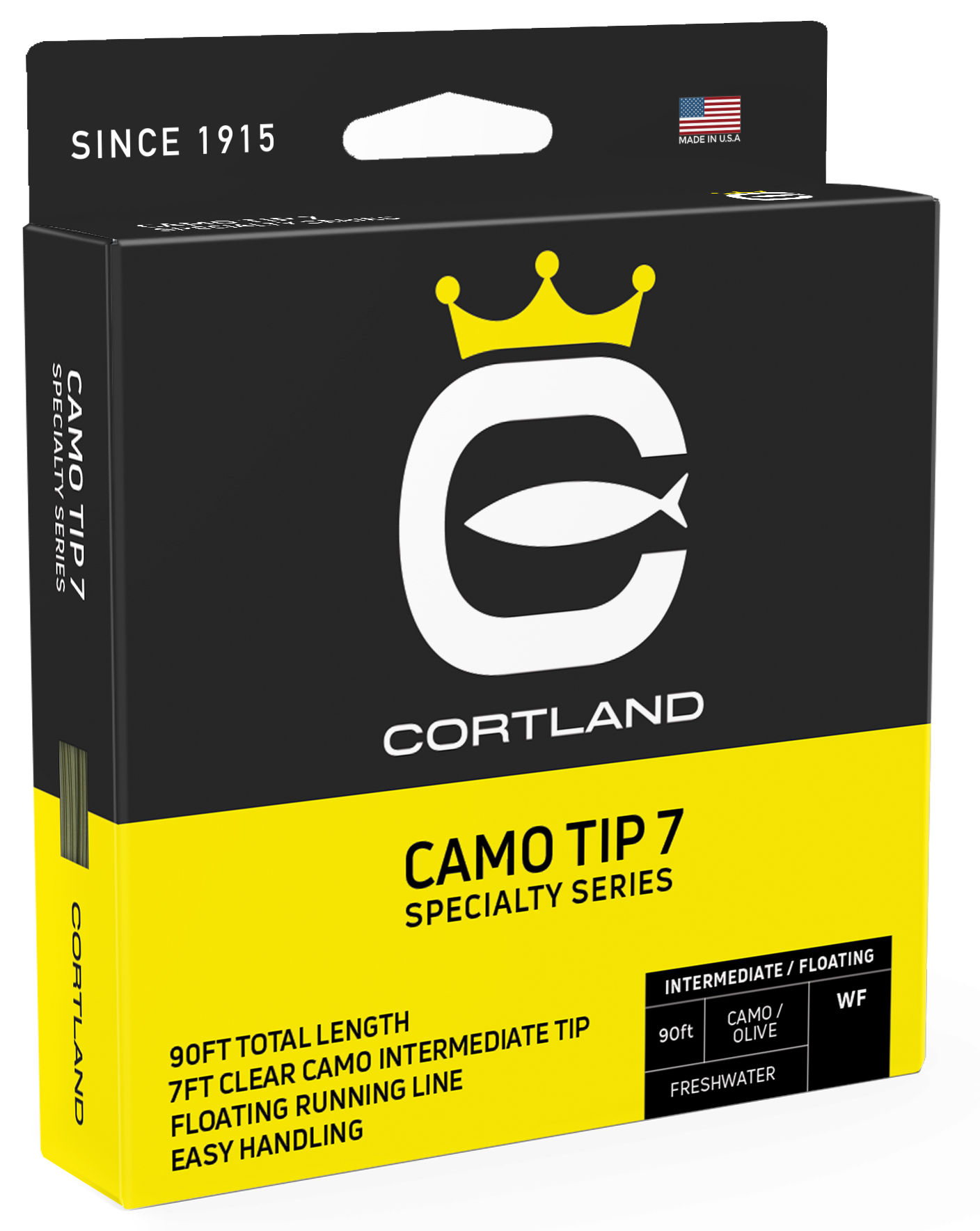 Fly Line Intermediate Tip Cortland CAMO TIP 7 Specialty Series - Box