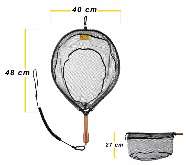 Fly Fishing Landing Net With Magnet Fencl King 2 Nature L