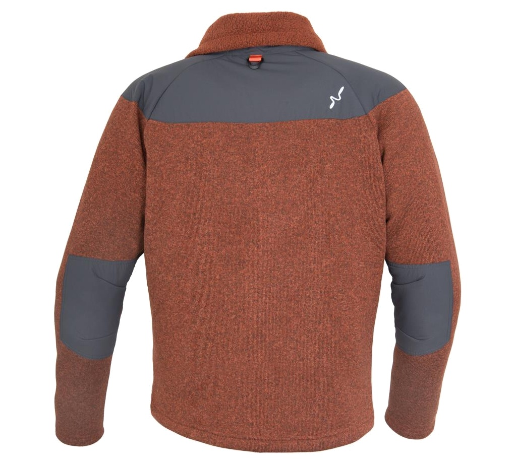 Fly Fishing Sweatshirt Guideline Alta Fleece Jacket Brick - Back Side