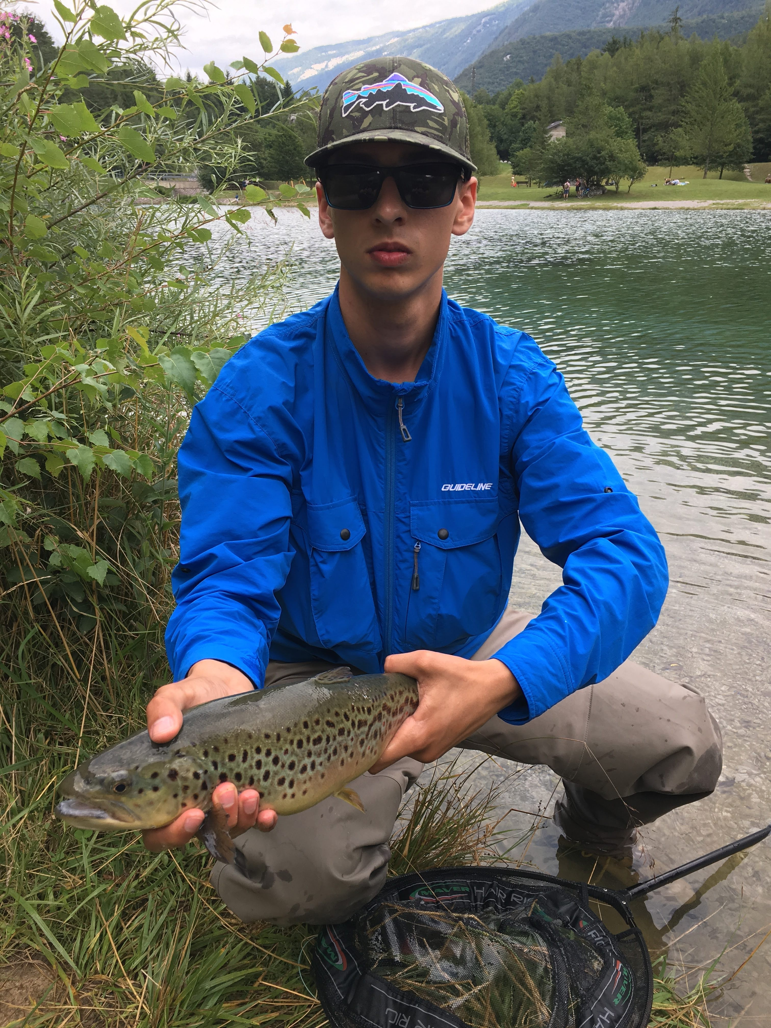Fly Fishing Shirt Guideline Alta Windshirt Clear Blue