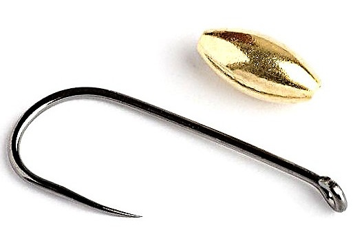Tungsten Nymphs Weights Knapek Hooks OLIVE Gold