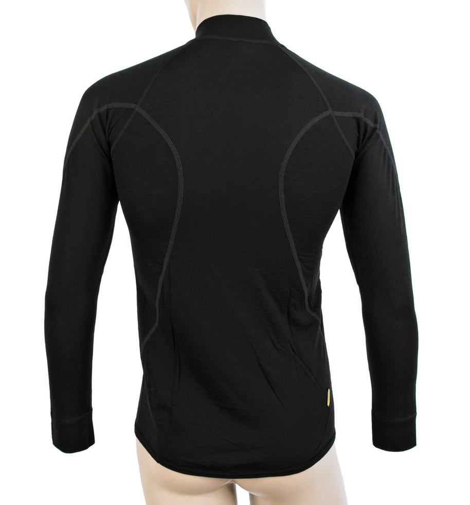 Functional LS Shirt Zipper Sensor Merino DF Black - Back Side