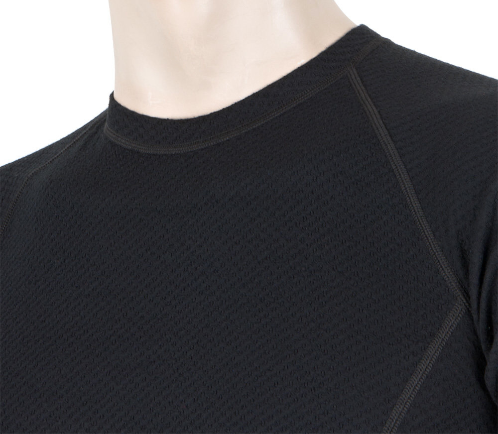Functional T-Shirt Sensor Merino DF Black - Collar