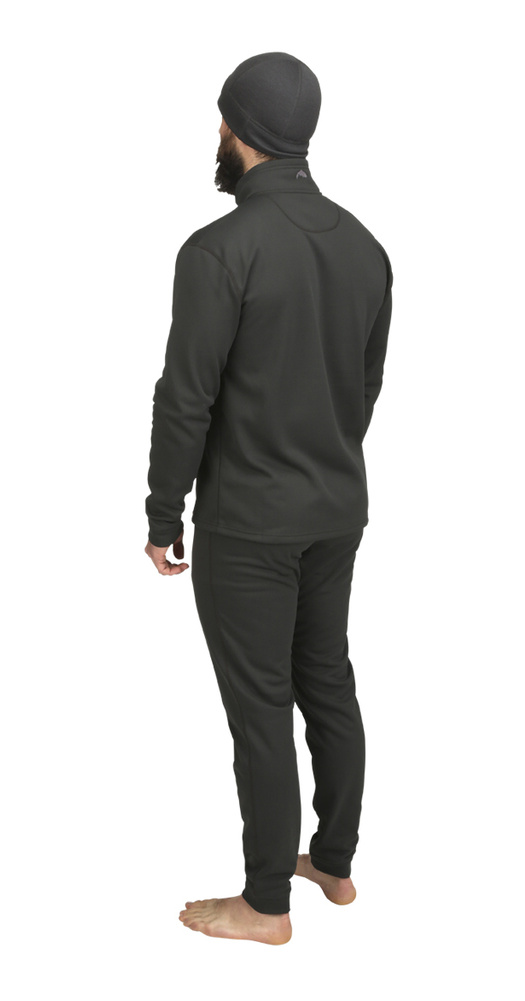 Midweight Core Top Quarter-Zip Simms Carbon - Back Side