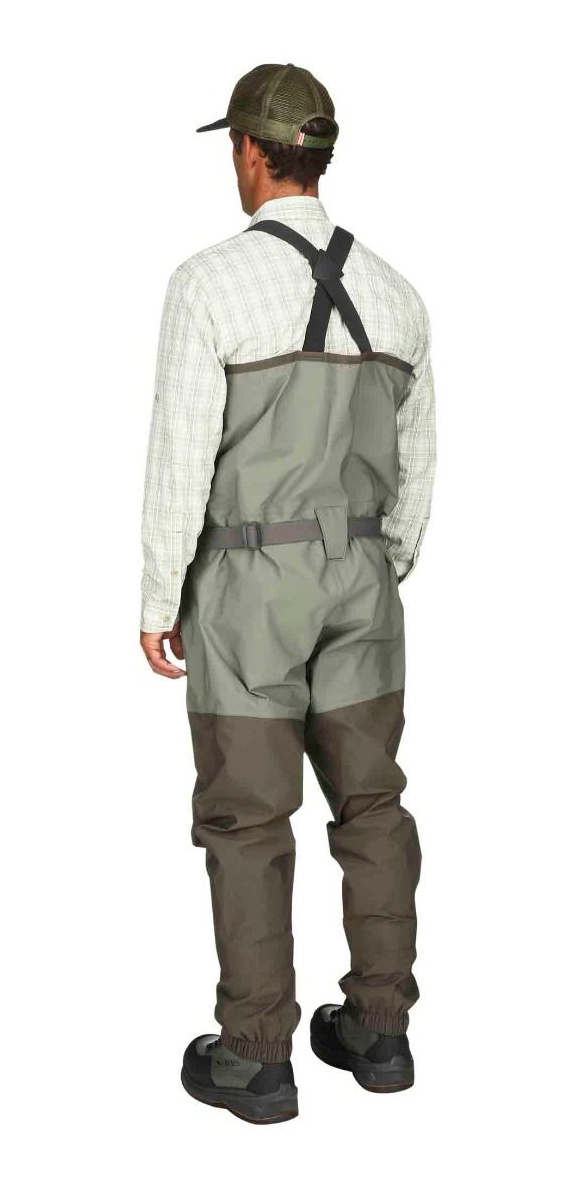 Fishing Waders Simms Freestone Stockingfoot Dark Gunmetal - Back Side