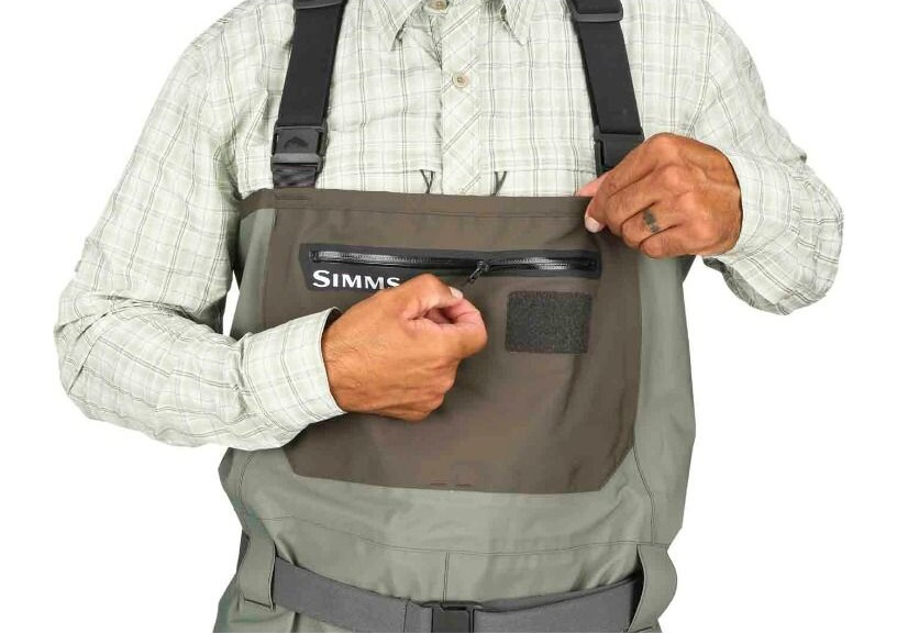 Fishing Waders Simms Freestone Stockingfoot Dark Gunmetal - Front Pocket