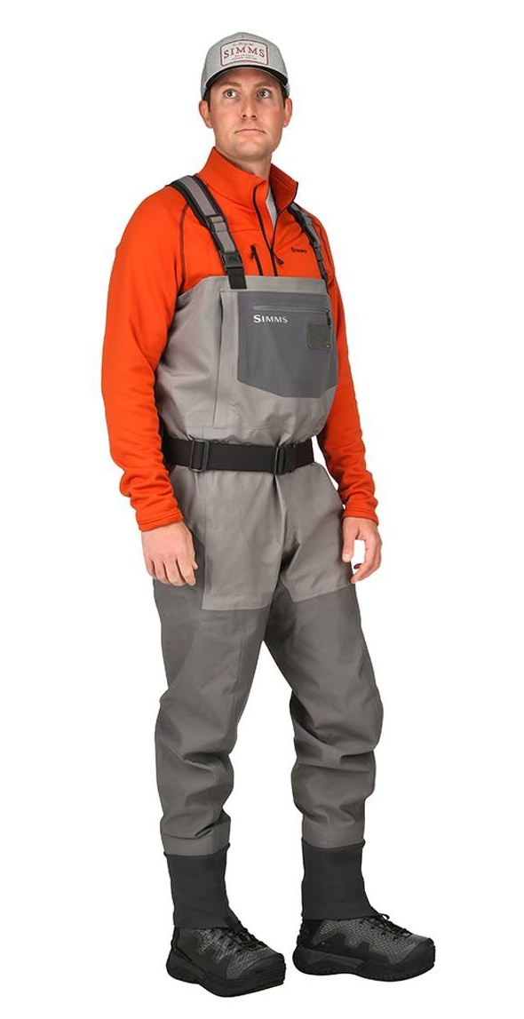 Fishing Waders Simms G4 Pro Stockingfoot Slate - Front Side
