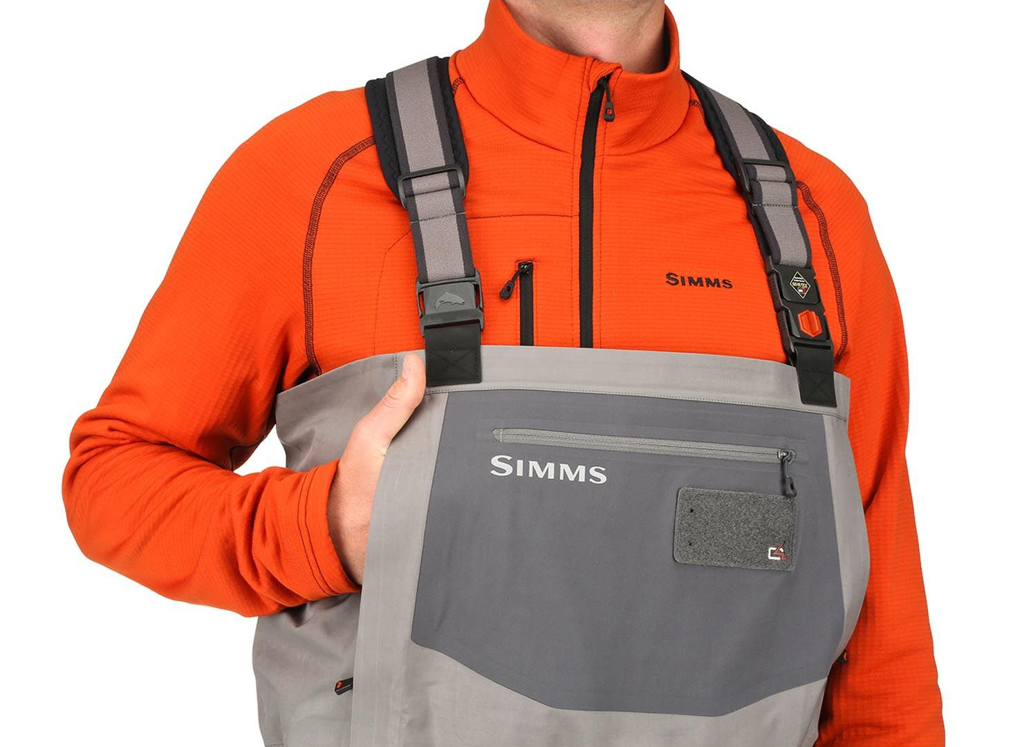 Fishing Waders Simms G4 Pro Stockingfoot Slate - Front Pockets