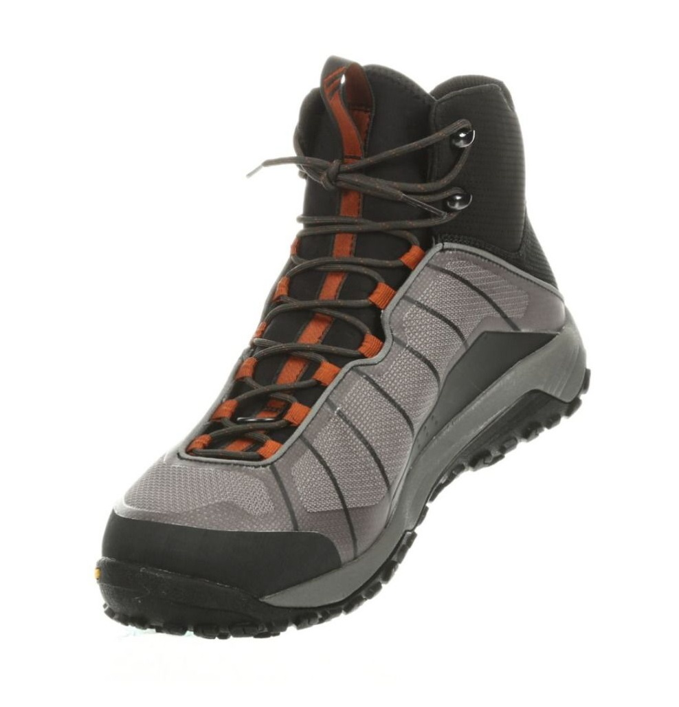 Wading Boots Simms Flyweight Vibram Soles Steel Grey