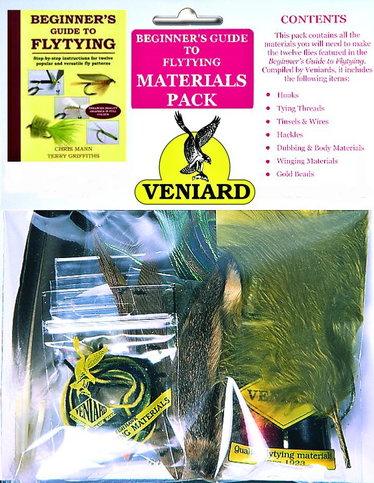 NEW FLYTYING  MATERIALS STARTER PACK FOR FLY FISHING