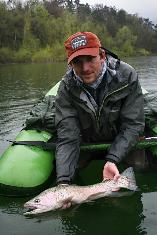 Great rainbow trout male  caught on small fish imitation. The perfect fish predator!
