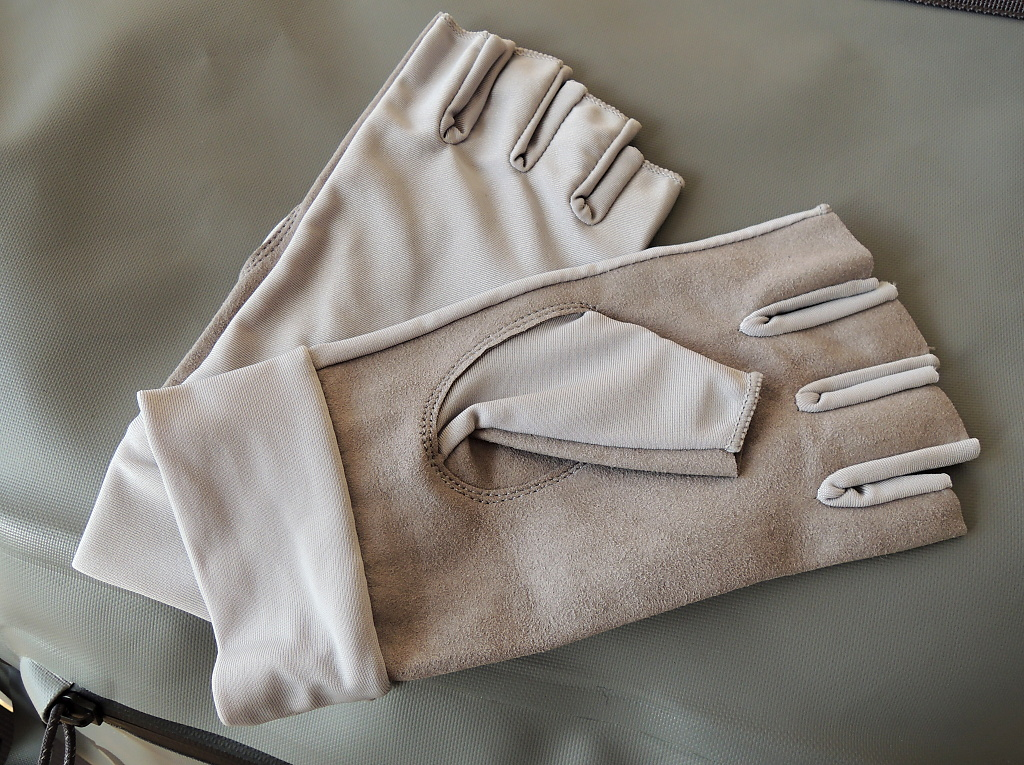 Fly Fishing Sun Gloves Leichi With Synthetic Leather