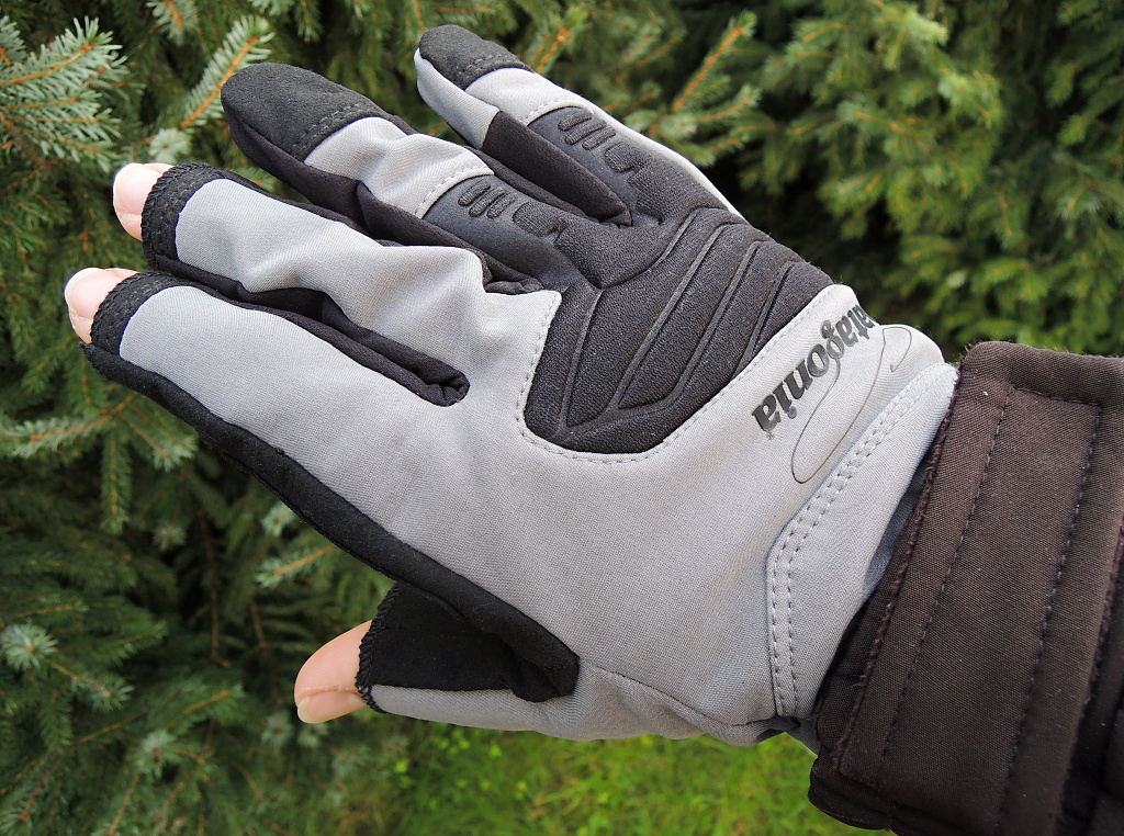 Fly Fishing Gloves Patagonia Shelled Insulator Fingerless - Back Side
