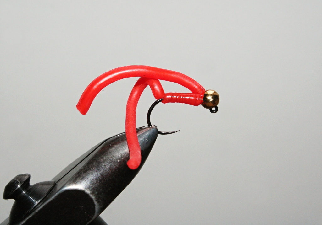 Gold Head Red Worm Jig - The Best for brownies and rainbows!