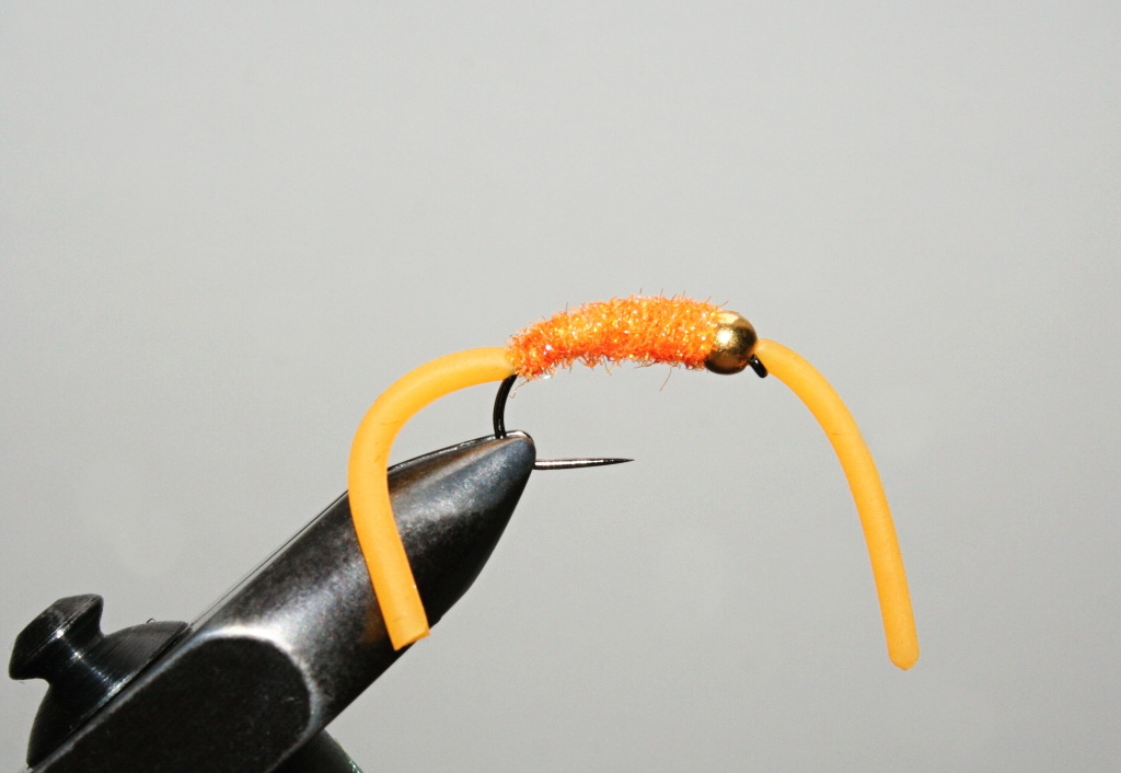 GH Bright Orange Squirmy Worm - Brown & rainbow trout killer