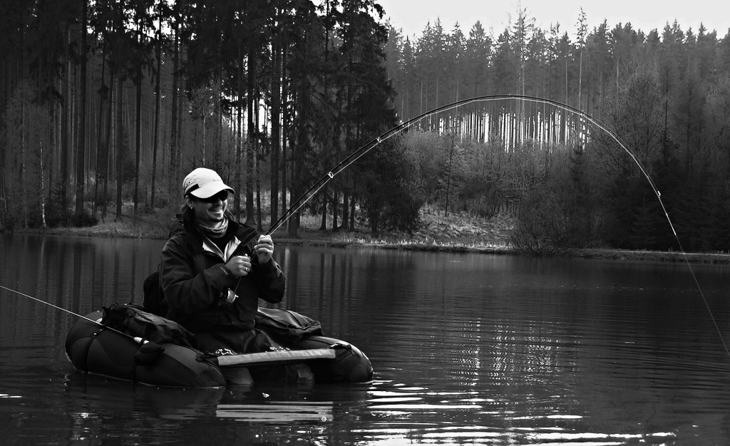 Black & White monster on the rod.