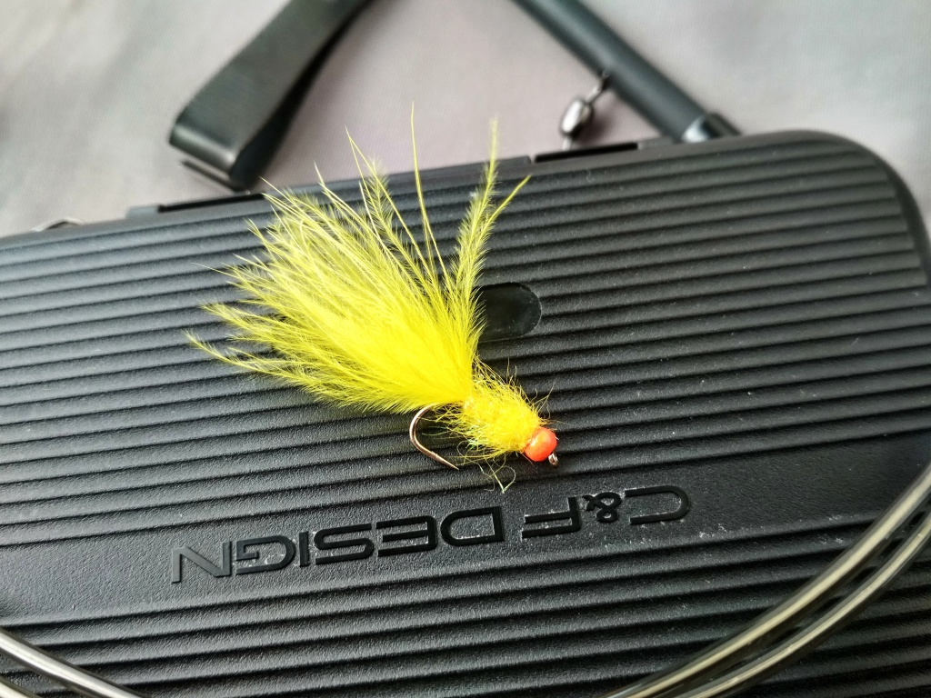 3 Black Holo Red Cheeked Diawl Bachs Trout // Grayling Flies