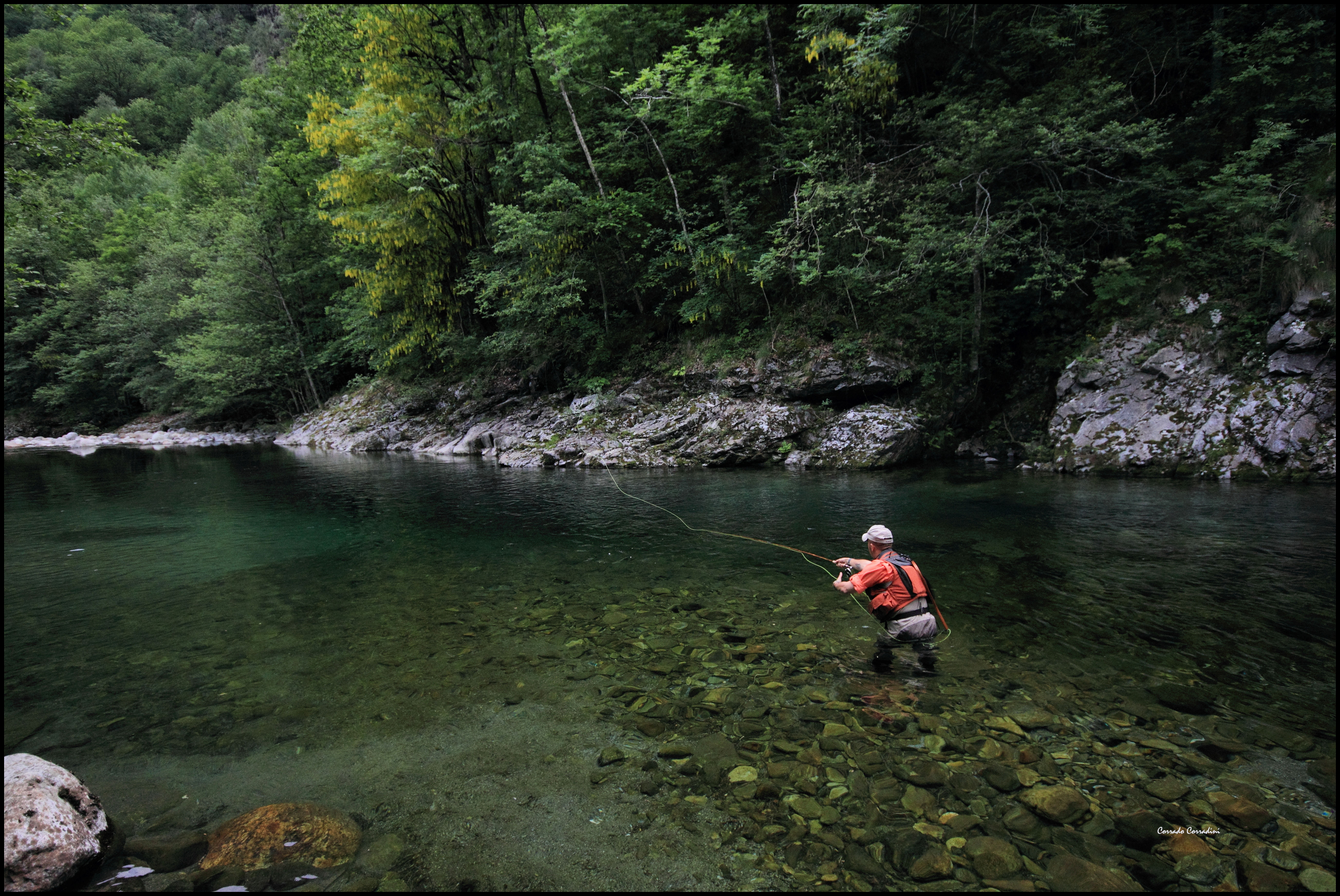 The mastallone river for Fishpond fly fishing