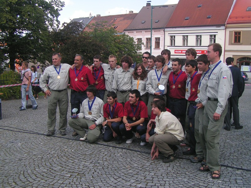 Czech and Spanish teams photo