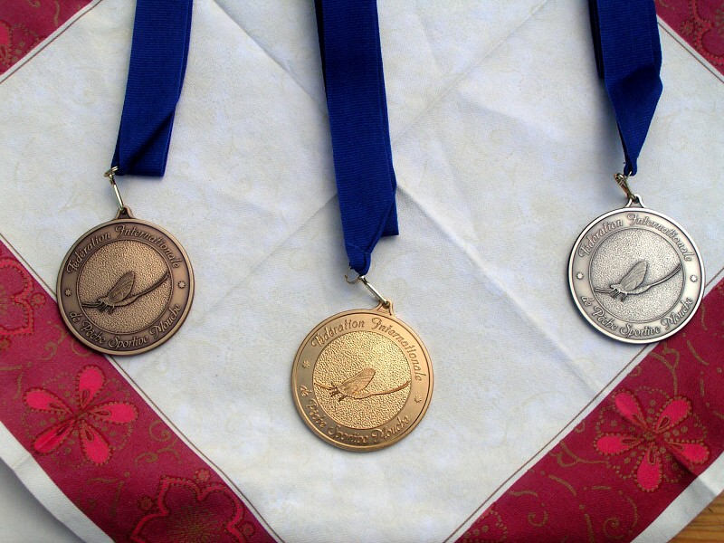 Medals for individual winners